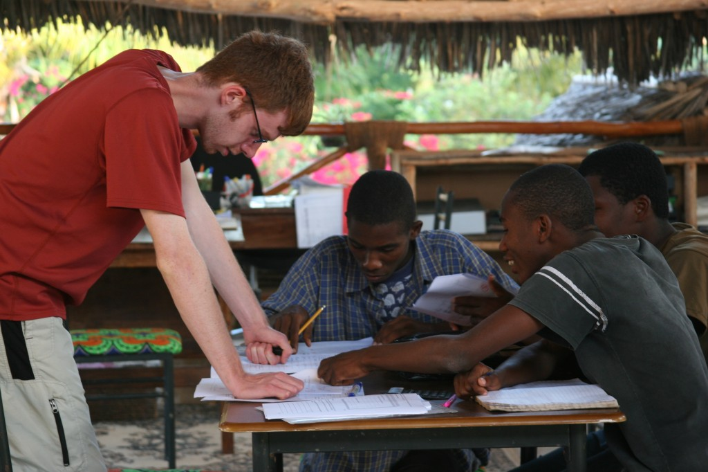 Tanner Mastaw Interns at Tamani Foundation in Zanzibar